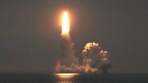 Как атомная подводная лодка «Владимир Мономах» совершила запуск баллистической ракеты «Булава»