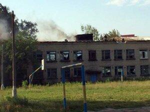 Как выглядит школа в Петровском районе Донецка после обстрела