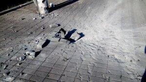 Последствия обстрела ж/д вокзала города Макеевки