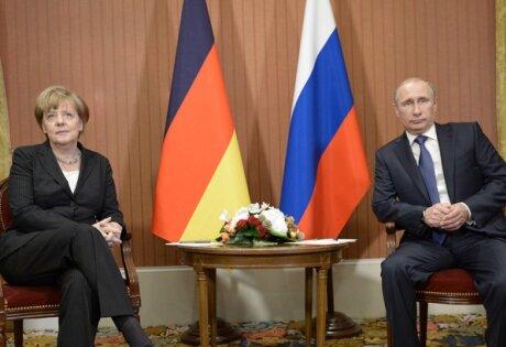Видео совместного выступления Владимира Путина и Ангелы Меркель по итогам переговоров в Москве
